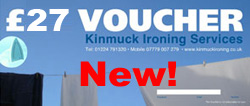 Kinmuck Ironing Service Gift Vouchers